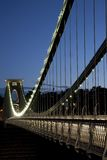 Clifton Suspension Bridge by Brunel, Illuminated a Royalty Free Stock Photo