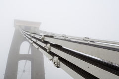 Clifton Suspension bridge cables in the mist Royalty Free Stock Photography