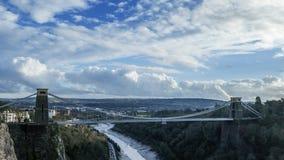 Clifton Suspension Bridge dans Bristol - vidéo de laps de temps banque de vidéos