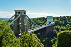 Clifton Suspension Bridge Front Royalty-vrije Stock Fotografie