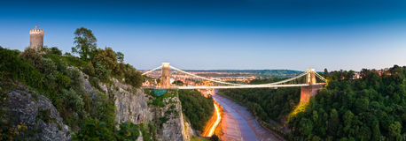 Clifton Suspension Bridge, het UK Stock Afbeelding