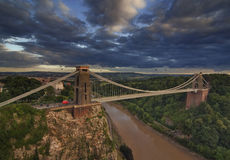Clifton Suspension Bridge i eftermiddagljuset Arkivfoton