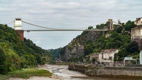 The Clifton suspension bridge, the landmark of the town of Bristol Royalty Free Stock Photo