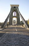 Clifton suspension bridge over the river Avon Royalty Free Stock Photography