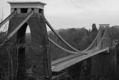 Clifton Suspension bridge over the river Avon stock images