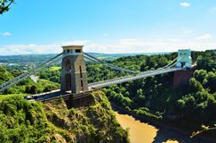 Clifton Suspension Bridge Side Stock Afbeelding