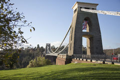 Clifton suspension bridge on a sunny winter day Stock Image