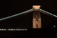 Clifton Suspension Bridge, torre del este del norte Foto de archivo libre de regalías