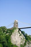 Clifton Suspension Bridge from under the South Pier. Brunel's Clifton Suspension Bridge from under the Leigh Woods side stock photography