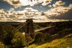 Clifton zawieszenia most Zdjęcia Stock