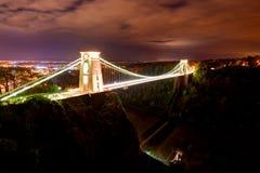Clifton zawieszenia most Zjednoczone Królestwo obraz royalty free