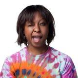 Cligner de l'oeil de femme d'Afro-américain Image stock