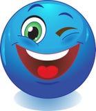 Cligner de l'oeil le smiley. Photo libre de droits