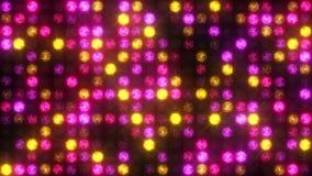 Clignotant projecteurs roses et jaunes banque de vidéos