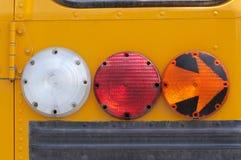 Clignotants d'autobus scolaire Photo libre de droits