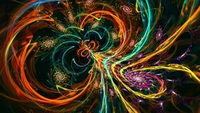 Clignotement et changement en spirale de modèles Haut détaillé banque de vidéos