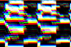 Clignotement réaliste de fond noir et blanc, signal analogue du vintage TV avec la mauvaise interférence, fond statique de bruit Images libres de droits