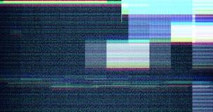 Clignotement réaliste de VHS de fond coloré de problème, signal analogue du vintage TV avec la mauvaise interférence, fond statiq banque de vidéos