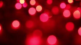 Clignotement rouge brouillé de cercles banque de vidéos