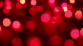Clignotement rouge brouillé de cercles clips vidéos