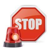 Clignoteur de vecteur avec le signe Photographie stock libre de droits