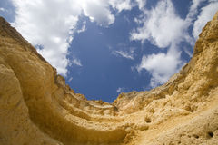 Cliifs. Cliffs at a beach in algarve, south of portugal Royalty Free Stock Images