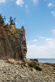 Cliifs of Cape Enrage along the Bay of Fundy Stock Images