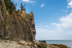 Cliifs of Cape Enrage along the Bay of Fundy. (Cape Enrage, New Brunswick, Canada Stock Image