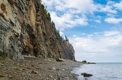Cliifs of Cape Enrage along the Bay of Fundy Royalty Free Stock Image