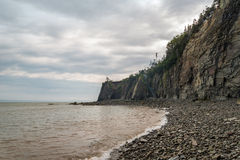 Cliifs of Cape Enrage along the Bay of Fundy. (Cape Enrage, New Brunswick, Canada Royalty Free Stock Image