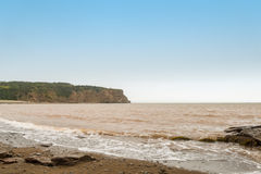 Cliifs of Cape Enrage along the Bay of Fundy. (Cape Enrage, New Brunswick, Canada Stock Photography
