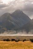 Clima de tempestade no cozinheiro National Park da montagem Foto de Stock Royalty Free