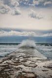 Clima de tempestade no mar Foto de Stock