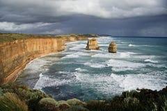 Clima de tempestade nos doze apóstolos Foto de Stock