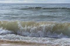 Clima de tempestade, onda do mar Fotos de Stock Royalty Free