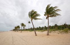 Clima de tempestade sobre o Fort Lauderdale, Florida imagens de stock royalty free