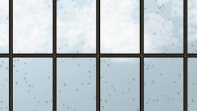 Clima del tiempo pesado de la lluvia stock de ilustración