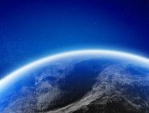 Clima della terra da spazio illustrazione vettoriale