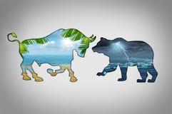 Clima do mercado Imagens de Stock Royalty Free