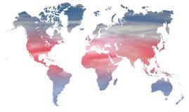 Clima e temperatura del mondo Fotografia Stock