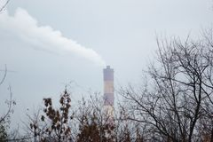 Clima, industria e natura fotografia stock libera da diritti