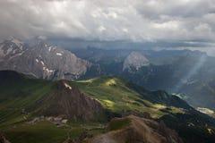 Clima tempestuoso de las montañas Imagen de archivo libre de regalías
