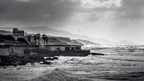 Clima tempestuoso en Alghero Foto de archivo libre de regalías