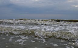 Clima tempestuoso en el Mar Negro Foto de archivo libre de regalías