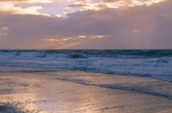 Clima tempestuoso en la isla de Sylt Foto de archivo
