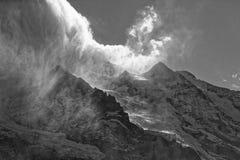 Clima tempestuoso sobre el macizo de Jungfrau fotografía de archivo libre de regalías