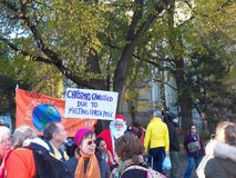 Climat global mars et Rassemblement-nouvelle ville de York, NY Etats-Unis Photo libre de droits