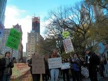 Climat global mars et Rassemblement-nouvelle ville de York, NY Etats-Unis Photographie stock libre de droits