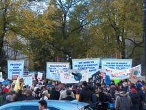 Climat global mars et Rassemblement-nouvelle ville de York, NY Etats-Unis Photo stock