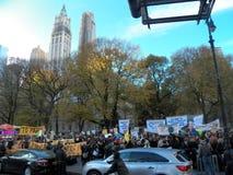 Climat global mars et Rassemblement-nouvelle ville de York, NY Etats-Unis Image stock